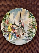 Royal Doulton Ports Of Call French Quarter New Orleans Collector Plate 1976