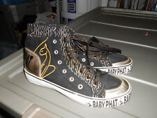 Baby Phat Shoes Ladies Women Size 8.5 Gold Black High Tops
