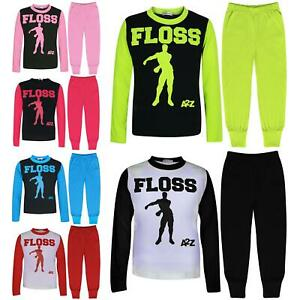 Kids Boys Girls Pyjamas Trendy Floss A2Z Print Xmas Loungewear Pjs Outfit Sets