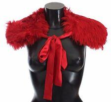 c1602491257b Dolce   Gabbana Scarf Shoulder Wrap Red Alpaca Strap Collar It36 ...