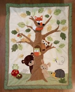 LAMBS & IVY QUILT NURSERY BEDDING Echo WOODLANDS Friends FOX w/Rattle Tail