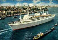 Schiffsfoto-AK Schiff Ship ROTTERDAM Luftaufnahme Echtfoto-Ansichtskarte ungel.