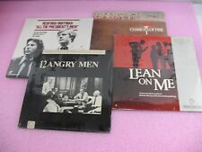 4 Laserdiscs All the President's Men, 12 Angry Men, Chariots of Fire, Lean on Me