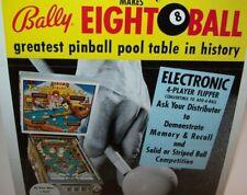 Eight Ball Pinball FLYER Original 1977 Bally Game The Fonz Happy Days Artwork