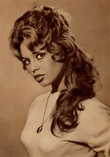 French Movie Star Brigitte Bardot Portrait, 1960's Postcard #2