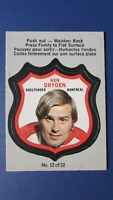 KEN DRYDEN   1972-73  O-Pee-Chee  OPC PLAYERS  CRESTS  # 12  MONTREAL CANADIENS