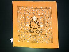 HELLO KITTY FOULARD BANDANA ORANGE NEUF