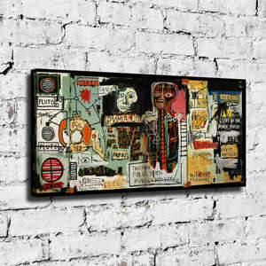 """40x20"""" Jean Michel Basquiat """"Notary"""" HD print on canvas ready to hang"""