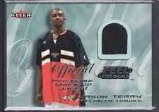 JASON TERRY 2000/01 FLEER FEEL THE GAME USED JERSEY ATLANTA HAWKS SP $12