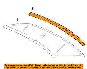 VW VOLKSWAGEN OEM Rear Window Glass-Surrround Lower Molding Trim 3C8853465A041