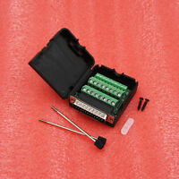 DB25 Male 25Pin Plug Breakout Board Terminals Adapter D-SUB Solderless Connector