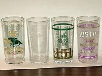 2019 Kentucky Derby, 2019 Preakness, 2019 Belmont + JUSTIFY Glasses  SET OF FOUR