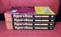 Hyper Rune, Vols. 1 2 3 4 (complete set), by Tamayo Akiyama, English Manga