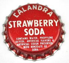 Vintage Calandra Strawberry (Fraise) Soda Capsules USA Soda Bouteille Casquette