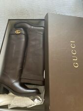 Authentic Gucci GG boots size 9 Chocolate Brown