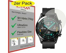 2x EnWi 9H Displayschutzfolie Hybridglas KLAR für Huawei Watch GT 2 / GT2 46 mm