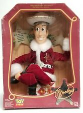 """MATTEL 1999 Holiday Hero series Toy Story """"Woody"""" figure doll. New Old Stock!"""