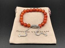 DAVID YURMAN Spiritual Bead Bracelet Sterling Silver With Carnelian 8mm