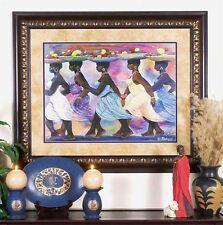 "African American Black Art Print ""BLESSED HARVEST"" by Roederick Vines"