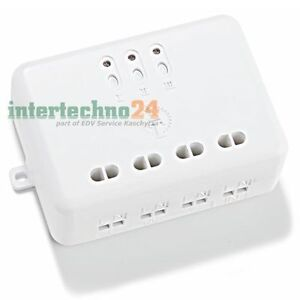 Intertechno 3-fach Funk-Einbauschalter ITL-3500, 3.500 Watt Schaltleistung