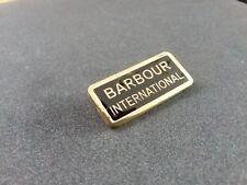 RARE BLACK BARBOUR INTERNATIONAL  PIN BADGE