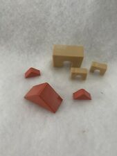 Sylvanian Families Baby House Play Building Blocks  Vintage Red Tan