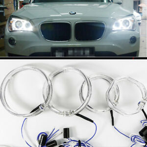 2X White 10Watt BMW Style Super Bright Car Led Angel Eyes Halo Right Light 9-24V