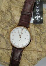 Vintage SINOBI Fashion Luxury Brand Watch Faux Leather band Wristwatches S9538G