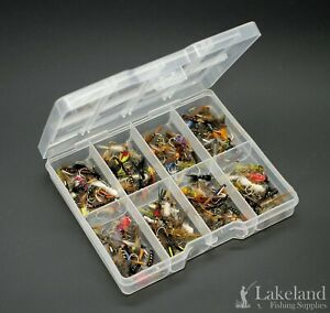 Tackle Fly Box with Assorted Nymph Flies for Trout Fly Fishing Ideal Starter Kit