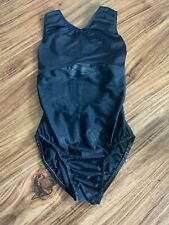 Pre-Owned Shiny Zebra Stripe Black Go For The Gold Leotard Adult Small