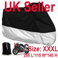 XXXL Motorcycle Waterproof Outdoor UVProtective Motorbike Rain Vented Bike Cover