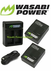 HERO3, HERO3+ Battery x 2 Wasabi Power & Dual USB Charger Kit for GoPro HERO3,3+