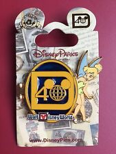 WALT DISNEY WORLD PIN 40TH ANNIVERSARY LOCKET Style OPENS TINKERBELL NEW On Card