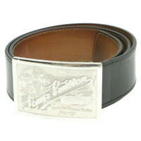 LOUIS VUITTON Ceinture Jeans Black Belt M6812 LV Auth oh190