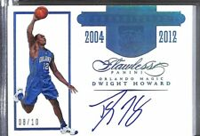 2015-16 Panini Flawless Blue Transitions Autograph #TR-DH Dwight Howard 8 of 10