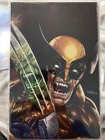 Wolverine #1 Mico Suayan Exclusive Virgin Variant Homage Hulk 340 Brown Suit