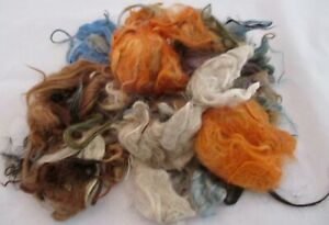 100% Alpaca Dyed Spinning Felting Fiber Fleece 2.6 oz Colorful 75 gr