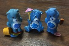 "(3) Cute Rare Vintage 1980's Care Bears ""Grumpy Bear"" 2"" Collectible Figures EVC"