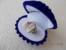 Vintage Ring - Watch Eterna silver & whit gold plated high grade swiss made move