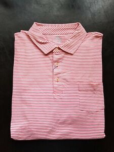 1 NWT MEN'S PETER MILLAR POLO, SIZE: X-LARGE, COLOR: PNKC (PINK/WHITE)(STZ10)