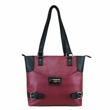 Vism Concealed Carry Satchel Bag, Black w/Burgundy, Small, Bwi002 Carrying Bag