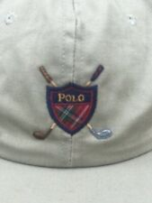 Vintage Polo Ralph Lauren Golf Crest Shield Hat Made In The USA