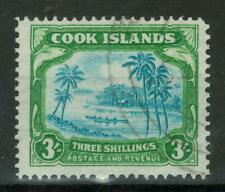 Cook Islands - 1938 Local Motives, 3Sh, Used, 241