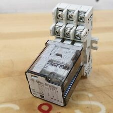 Allen Bradley 700-HB33Z24 Series E, 700-HN100 Series A Relay and Socket - USED