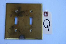 Q Vintage  Antique Brass Double Toggle Wall Light Switch Plate Cover Arrow