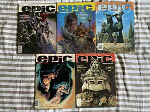 Epic Illustrated 10 Issue Lot