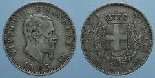 REGNO D'ITALIA VITT. EMAN. II 1 LIRA 1863 MILANO-STEMMA ottimo BB