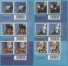 Großb.-Guernsey-Alderney aus 2005 ** postfrisch MiNr.253-258 Zweierpaar!
