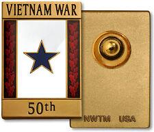 50th Anniversary Commemorative Insignia Pin Blue Star - Vietnam War