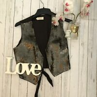 Toast size 14 brown cotton sequin waist coat jacket party occasion VGC sparkly